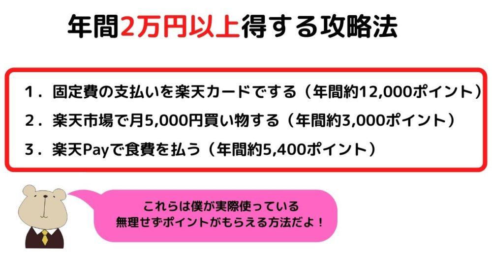 年間2万円以上得する攻略法